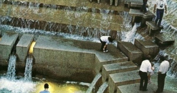 Philip Johnson S Public Water Garden In Fort Worth Texas National Geographic April 1980