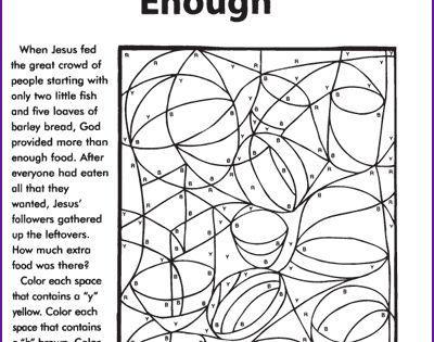 Jesus Feeds 5 000 Coloring Puzzle Kids Korner