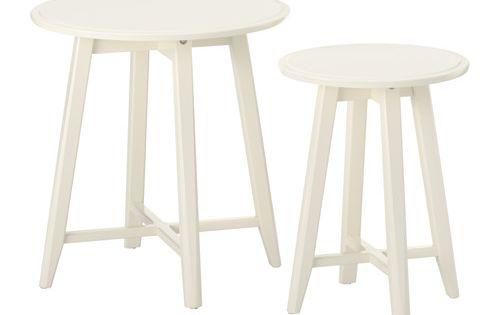 kragsta satsbord set om 2 vit ikea m bler och vardagsrum. Black Bedroom Furniture Sets. Home Design Ideas
