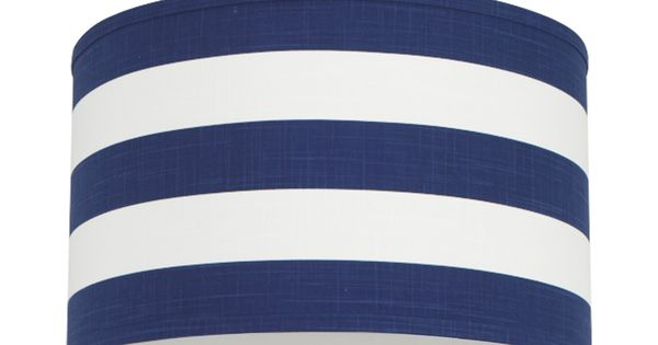 Cobalt Blue Striped Cylindrical Pendant Light | For the ...