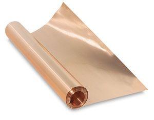 Pure Metal Tooling Foil 12 X 10 Ft Copper Blick Art Materials Pure Products Copper Sheets Copper Art