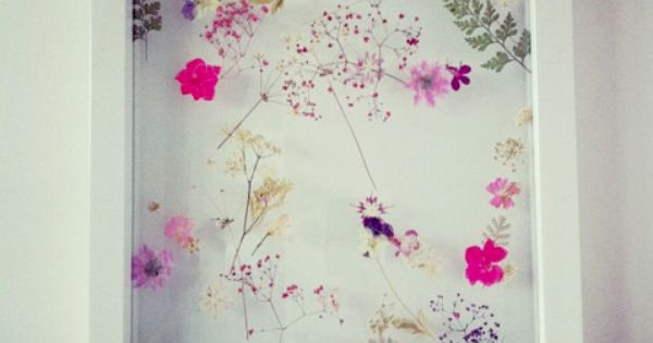 Dried flower frames