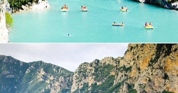 Lake of Sainte-Croix in France (Grand canyon du Verdon)