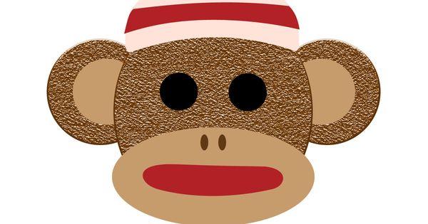 Sock Monkey Face Clip Art