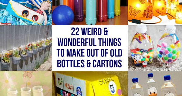 22 weird wonderful things to make out of old bottles for Things to do with plastic bottles