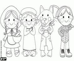 Desenho De Os Quatro Personagens Do Conto Sao Chapeuzinho Vermelho