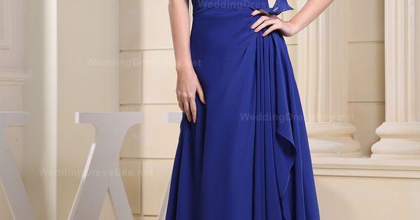 Amazing one shoulder with short sleeve chiffon floor length dress.