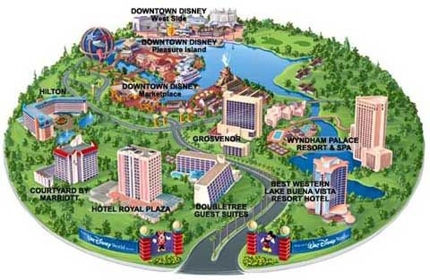Disney World Resort Hotel Map Downtown Compare Hotel Discounts