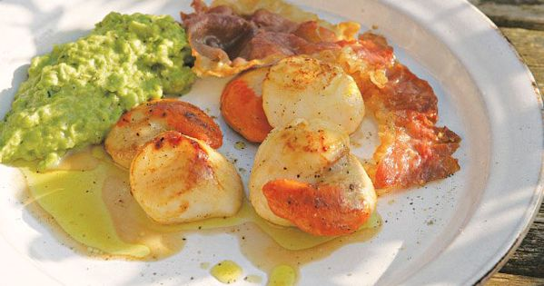 Crispy Broiled Scallops And Chorizo Recipe — Dishmaps