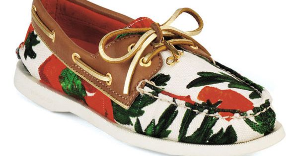 Milly for Sperry Top-Sider® 'Authentic Original' Boat Shoe (Roses Print Canvas) $125