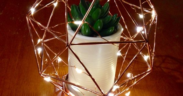 Kmart twinkle lights... Kmart copper candle holder... Kmart cactus pot! Ideas For Home ?? ...