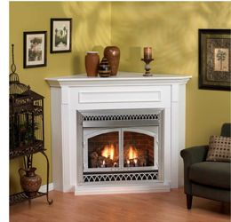 Corner Gas Fireplace Zero Clearance Certified Vent Free Gas