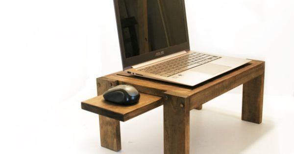 Bedside laptop table wood lap desk sofa table end table for Table stand i 52 compose