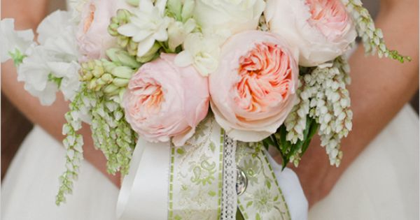 Light Pink Garden Rose Bouquet - By The Wedding Chicks Blog