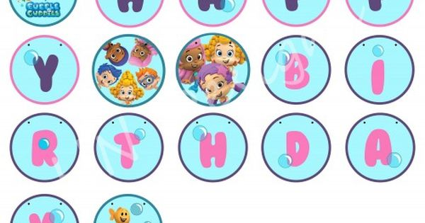 Free Bubble Guppies Birthday Printables Google Search Cute Pinterest Bubble Guppies