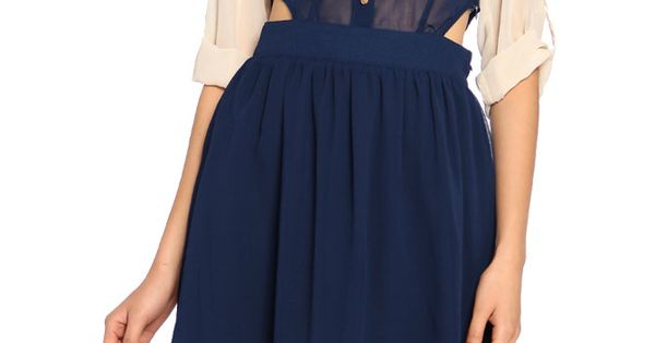 Colonial Peep Waist Dress via Polyvore
