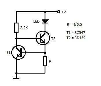 Led Constant Current Schematic Circuito Elettronico Elettronica