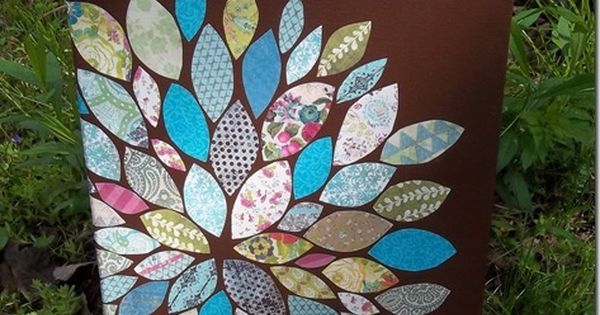 Paper Scraps Flower Wall Art