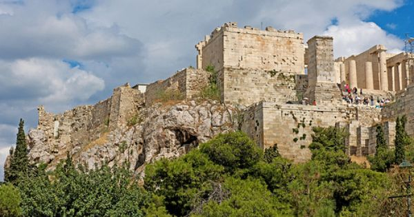 Greece Athens Acropolis Propyleion From Agora Athens