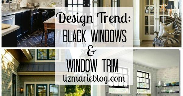 One of my favorite trends in Interior design is black trim around