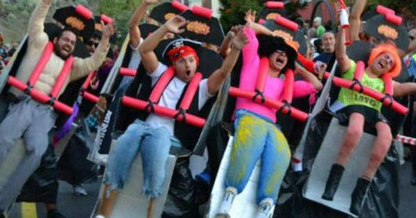 Just a few friends dressed up as a roller coaster. holy crap.