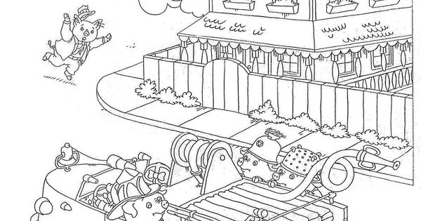busytown huckle coloring pages - photo#10