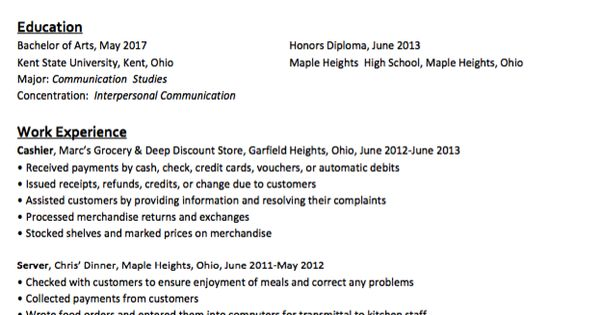 Student Employment Resume Sample - http\/\/resumesdesign - ophthalmic technician resume