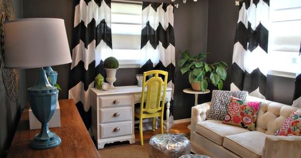 thick chevron curtains! | eclectic finds | Pinterest | Patterns ...
