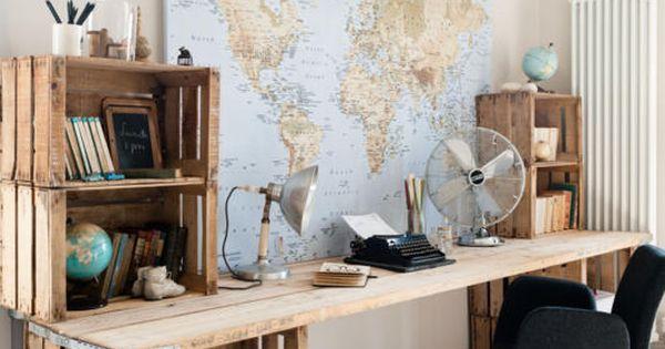 schreibtisch aus obstkisten reise inspiration schreibtisch selbst bauen und selber machen. Black Bedroom Furniture Sets. Home Design Ideas