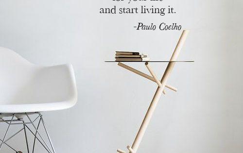 Paulo Coelho Quote Biniloa / Vinyl