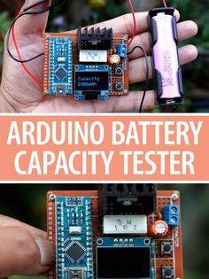 Diy Arduino Battery Capacity Tester V2 0 Arduino Arduino Projects Technology Diy