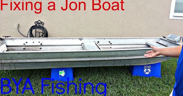How to Find & Fix Holes in a Jon Boat | tiny and odd ...