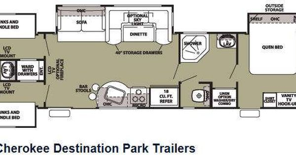 Used 2011 Forest River Rv Cherokee 39h Destination Trailer At Tom Schaeffer S Rv Superstore Shoem Rv Floor Plans Tiny House Camper Travel Trailer Floor Plans