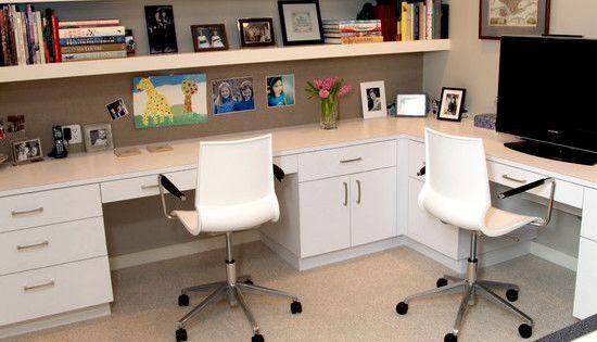 30 corner office designs and space saving furniture placement ideas bureau idee bureau et. Black Bedroom Furniture Sets. Home Design Ideas