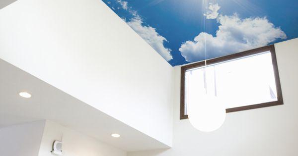 どこまでも突き抜ける 吸い込まれそうな青空と太陽を天井用壁紙へ