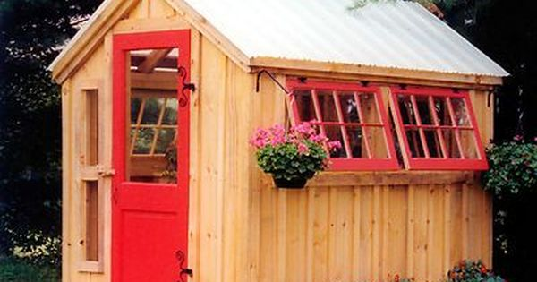 Do It Yourself Home Design: 6 X 8 Greenhouse, Garden Tool Storage, Potting Shed, Do-It