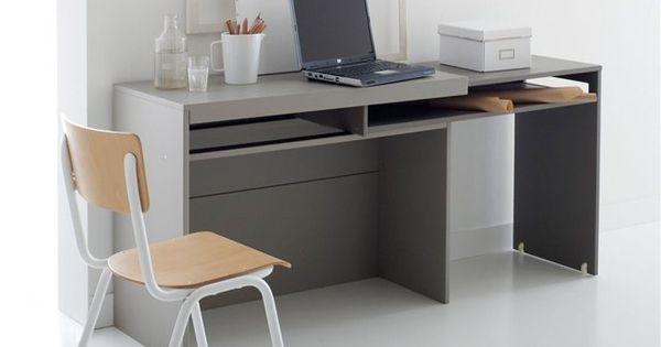 Quipe d 39 un plateau coulissant sur roulettes le bureau for Creer un meuble bureau