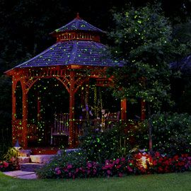 Just Stake And Plug In Looks Like You Ve Strung 1 000 Lights Bliss Lights Outdoor Blisslights My Dream Home