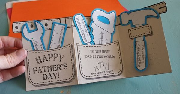 Tool Belt Father S Day Card Angel Street Mom Diy Father S Day Gifts Father S Day Diy Fathers Day