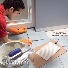 How To Install Ceramic Tile Floor In The Bathroom Ceramic Tile Floor Bathroom Tile Floor Ceramic Floor Tiles