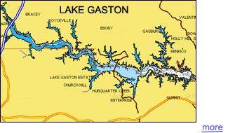 Gaston Lake Fishing Map