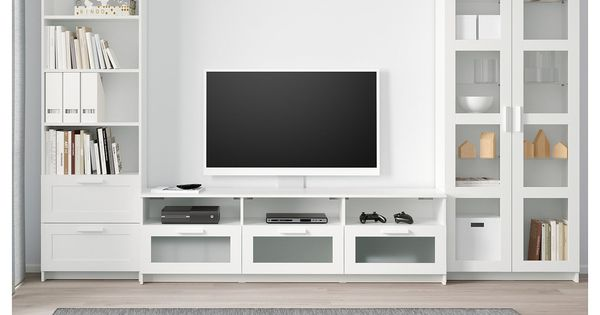 Brimnes Tv Komb Mit Vitrinenturen Weiss Ikea Brimnes Tv Komb