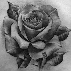 Resultado De Imagem Para Rosa Preta Desenho Realista Tatuagens