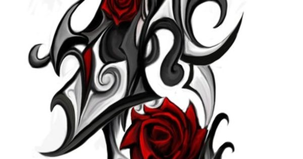 230caa72c Rose tribal Tattoo by ~Patrike on deviantART | Tattoos at Repinned.net