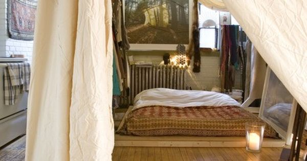 22 Ideas for Small Spaces - includes putting the bedroom under a