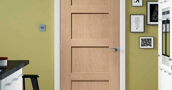 Shaker 4 Panel Oak Fire Door is 1/2 Hour Fire Rated | More ...