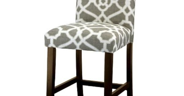 Avington 25 Quot Print Counter Stool Pavillion Fretwork Gray