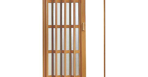 Puerta plegable pvc caoba 90 x 200 cm for Puertas correderas sodimac
