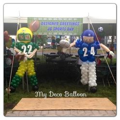 Balloon Sculptures Football Players Balloons Balloon