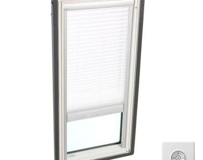 Velux Solar Powered Light Filtering White Skylight Blinds